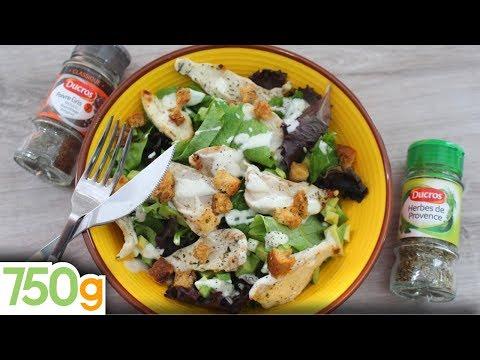 recette-de-salade-poulet-avocat-et-croûtons-&-herbes-de-provence---750g