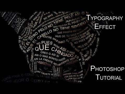 Typography Effect Photoshop tutorial
