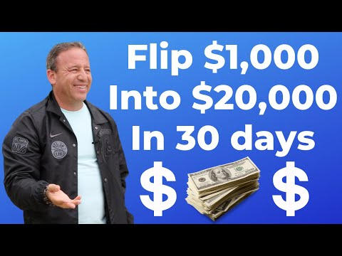 How to Flip $1,000 into $20,000 in 30 Days | David Meltzer