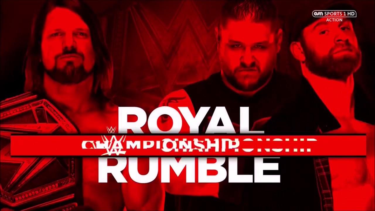 Image result for AJ Styles vs Kevin Owens and Sami Zayn at royal Rumble