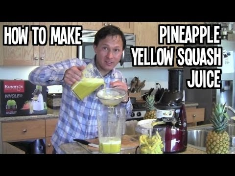 Kuvings Whole Slow Juicer - How to Make Pineapple Squash Juice