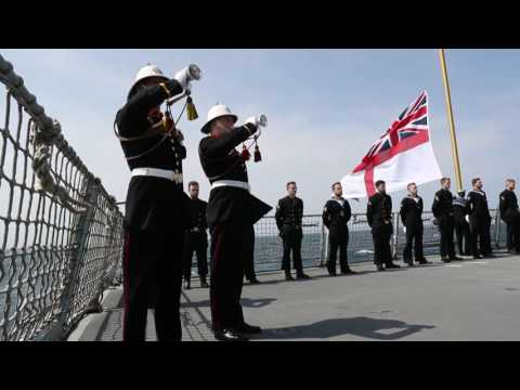 The Royal and German Navy remember the Battle of Jutland on board HMS Duncan
