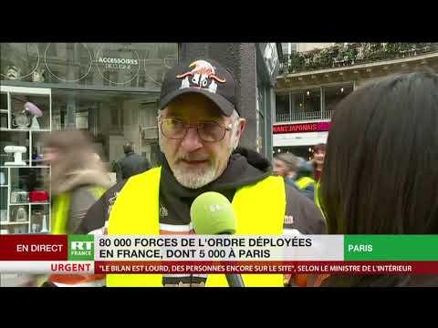 Cortège de Gilets jaunes à Paris : «Le gouvernement n'est plus légitime»