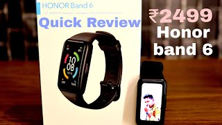 Honor Band 6 Best Fitness Band And Smartwatch For Just ₹2499   SPO2   100+Watchfaces #huawei #honor