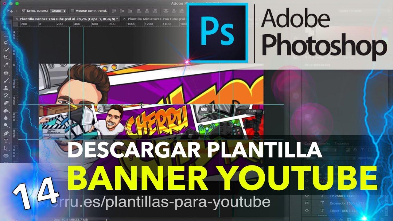 Descargar Plantilla Para Banner Y Miniaturas De Youtube
