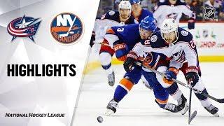 NHL Highlights | Blue Jackets @ Islanders 11/30/19