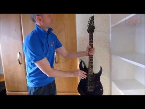 Decorating ideas: Cool feature wall (Crackle effect) guitar corner - by UK Decor