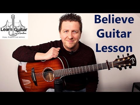 Believe - Acoustic Guitar Lesson - Cher - Drue James - Cover