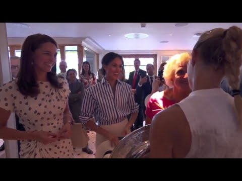 Sisters-in-law Meghan & Catherine - ALL MOMENTS - Wimbledon Ladies Tennis Final 2018