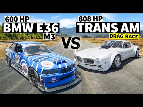 Hand-built widebody 808hp TRANS AM vs Time Attack E36 M3  // This VS That