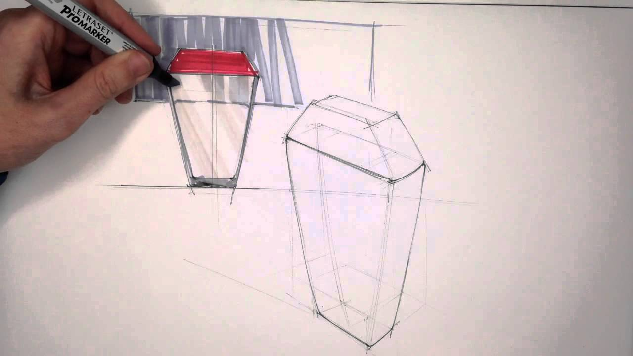 Rendering glass with markers youtube for Window design sketch
