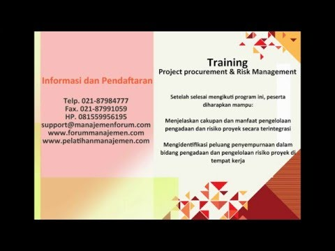 021 87984777 Pelatihan manajemen risiko proyek | Training project procurement risk management PPM