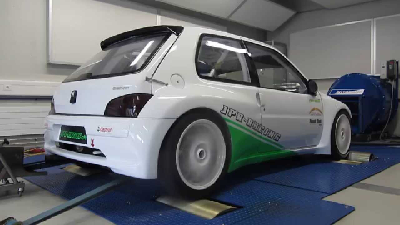 pierre murisier peugeot 106 maxi banc d 39 essai 1 jpr racing youtube. Black Bedroom Furniture Sets. Home Design Ideas