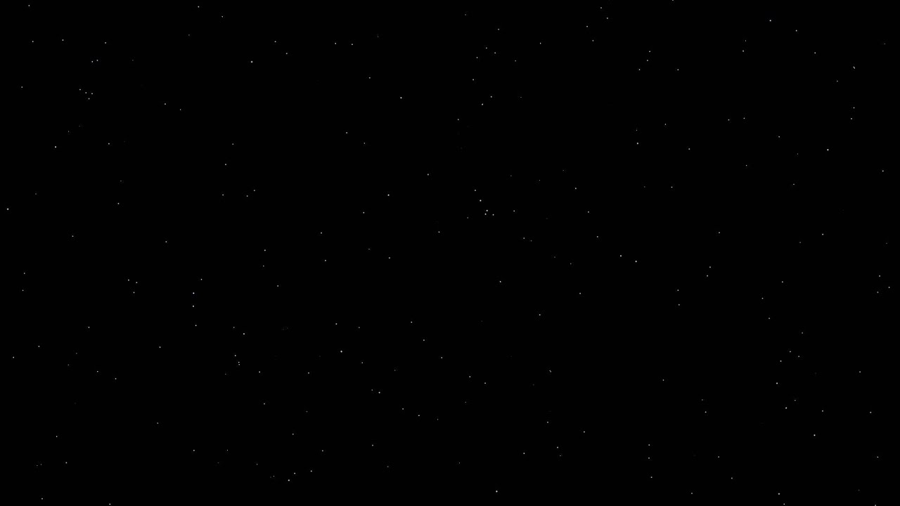 Sky Stars Black Background ANIMATION FREE FOOTAGE HD