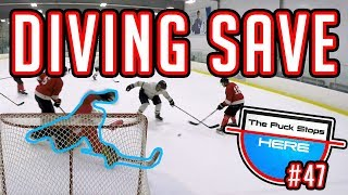 Diving Save | GoPro Hockey Goalie | Giveaway [HD]