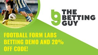 Football Form Labs Betting Demo and 20% off code!
