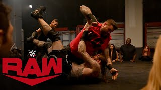 Kevin Owens and Aleister Black brawl in Raw Underground: Raw, September 7, 2020