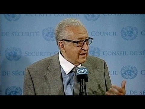 """Lakhdar Brahimi: """"il faut une force de maintien de la paix en Syrie"""""""