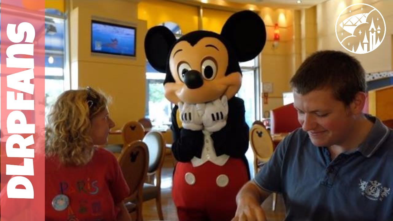 Breakfast at Cafe Mickey in Disneyland Paris YouTube