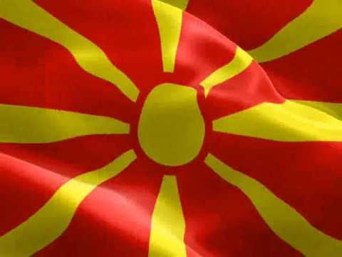 The national flag of the Republic of Macedonia