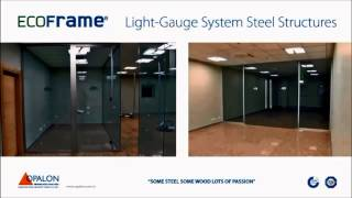 OPALON Prefabrik Yapılar Konteyner Hafif Çelik Modüler Bina Light Gauge ECOFRAME