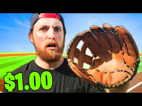 This Is The World's CHEAPEST MLB Baseball Glove!