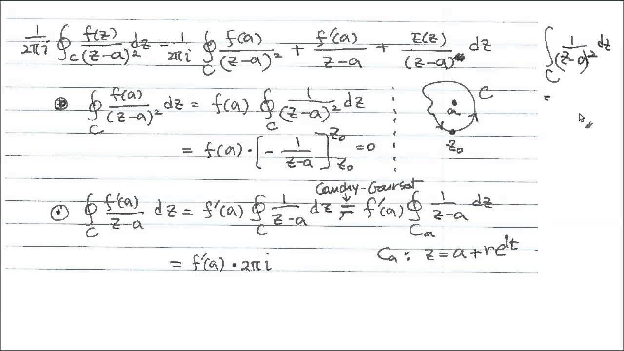 Cauchy Integral Formula 2, Proof