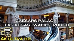 Caesars palace tour - 4k video walking tour