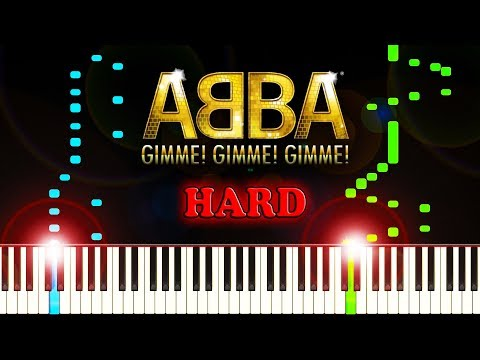 ABBA - Gimme! Gimme! Gimme! (A Man After Midnight) - Piano Tutorial