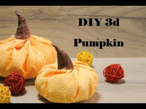 How to make 3d paper fruit and vegetables. Paper fruit making. Paper pumpkin.
