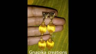 how to do silk thread bail earrings in home easyway