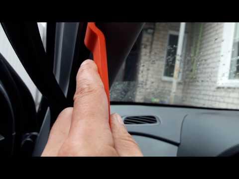 Снятие панели передней стойки Hyundai Creta