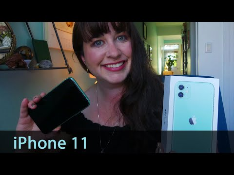 IPhone 11 Unboxing! Set-up, First Impressions + That Minty Fresh Green COLOR!