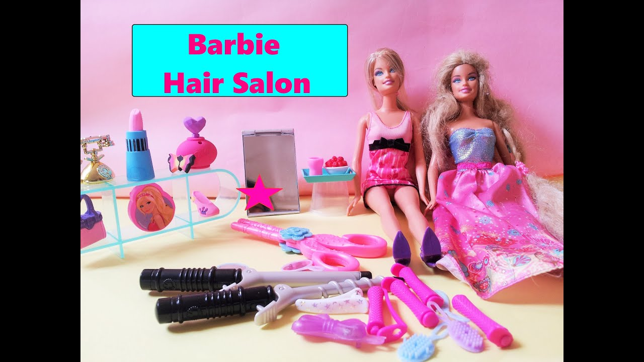 Barbie Doll S Very Own Fancy Hair Salon One Princess Came To Have A Style From