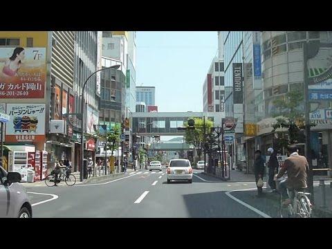 【未来スクエア】岡山市ぐるぐるドライブ【中心市街~繁華街を走る】