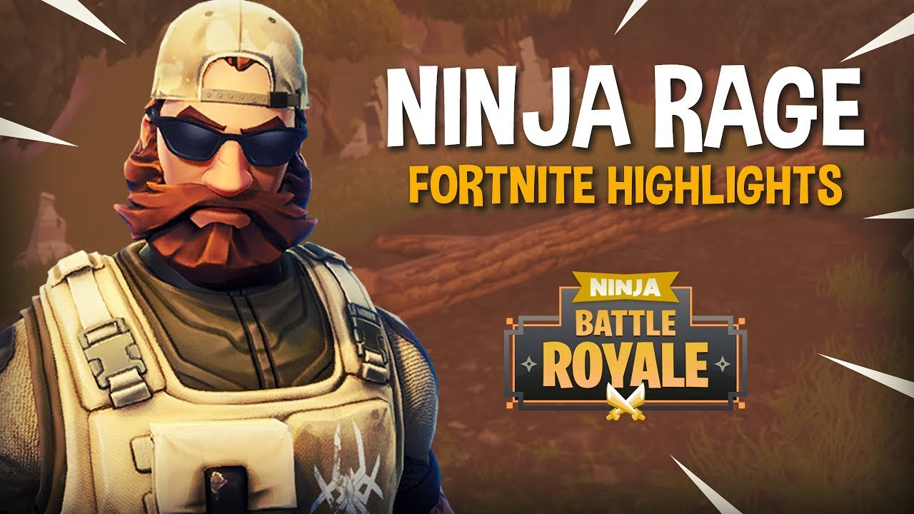 Ninja Rage Fortnite Battle Royale Highlights Ninja Youtube