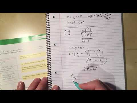 20  Vectors In Kinematics Chapter 8 Section 1 Edexcel Applied A Level Maths