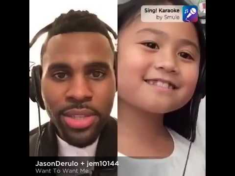 Smule Sing app performance ft. Jason Derulo and a little girl fan