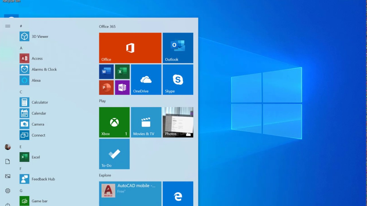 Hands on with Windows 10 19H1 build 18362