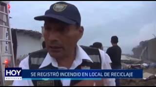 Víctor Larco: Se registró incendio en local de reciclaje