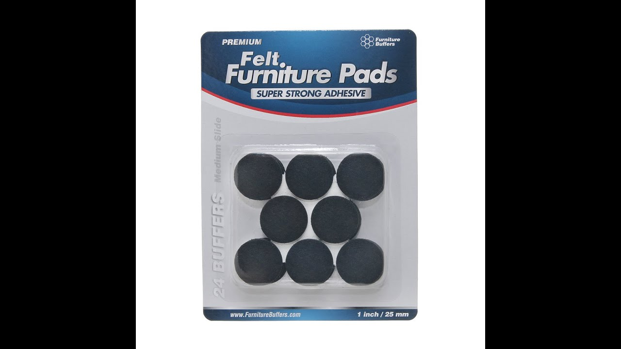 Felt Furniture Pads To Protect Hardwood And Tile Floors From Scratches And  Marks   Furniture Buffers   YouTube
