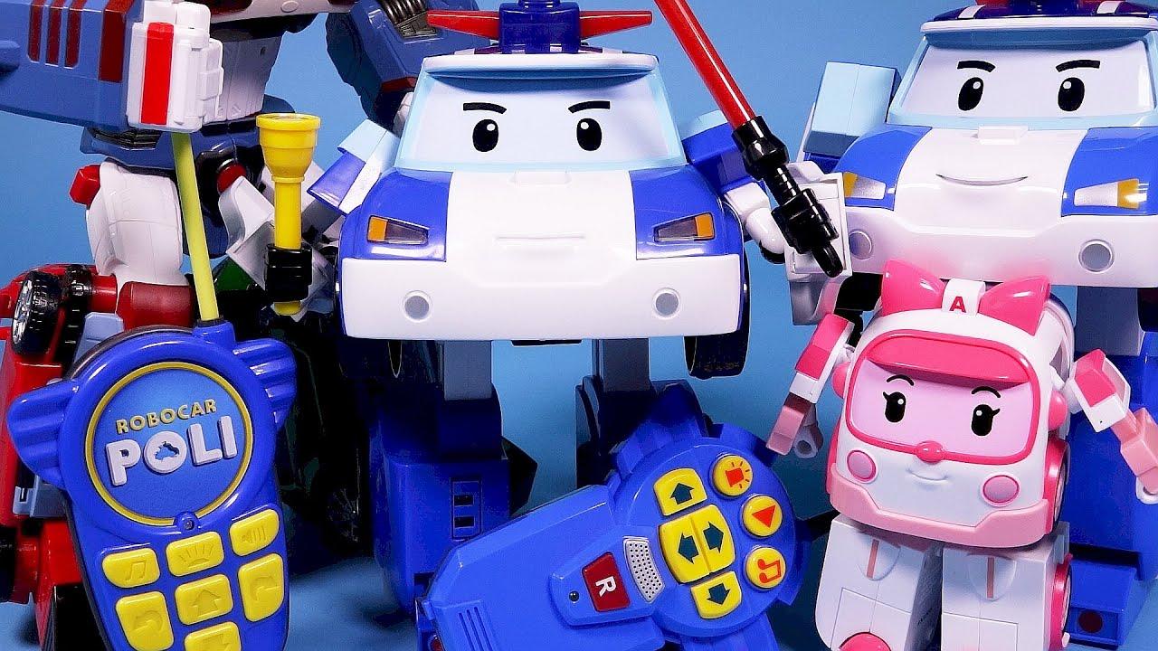 Rx robocar poli radio control robot car toy youtube - Radio car poli ...