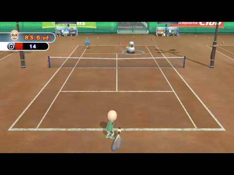 TENNIS TRAINING: RUNNER DUCKY 2 ~ Wii SPORTS CLUB - No Commentary