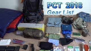 PCT 2018 Thru Hike Gear List