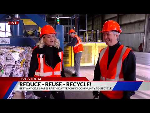 Behind the scenes at Bestway Material Recovery Facility Live & Local on  FOX21 Morning News