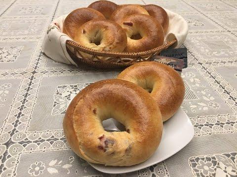簡單手揉蔓越莓貝果Homemade Cranberry Bagels