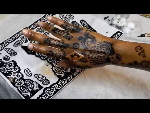 Henna Mehndi Stickers : Diy how i do my henna using stencil youtube