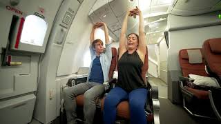 Airplane yoga - your guide to stretching in the sky