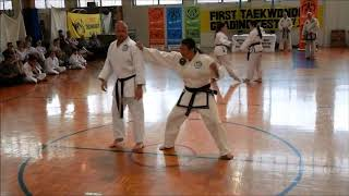 Demonstrating techniques in Self-Defence