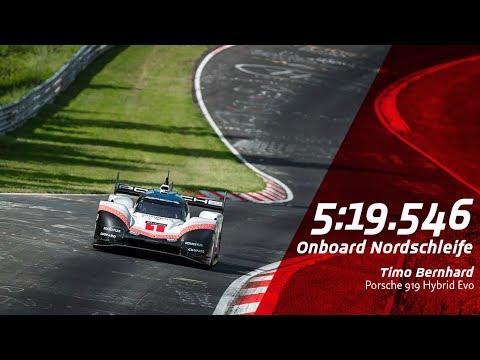 369 Km H On The Nordschleife Lap Record Porsche 919 Hybrid Evo Nürburgring
